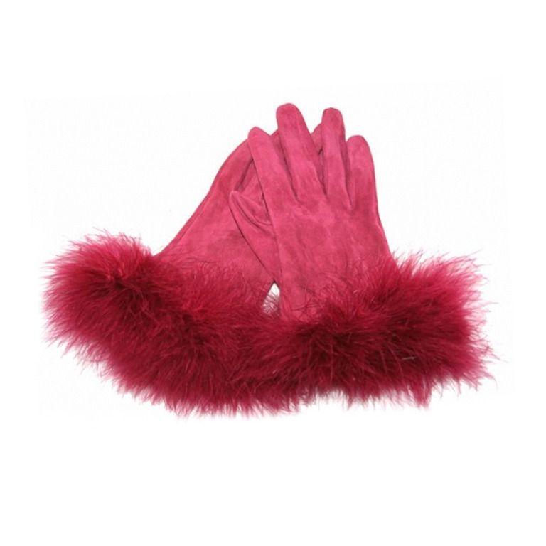 1stdibs.com | Christian Dior Silk/Calf Feathers Gloves
