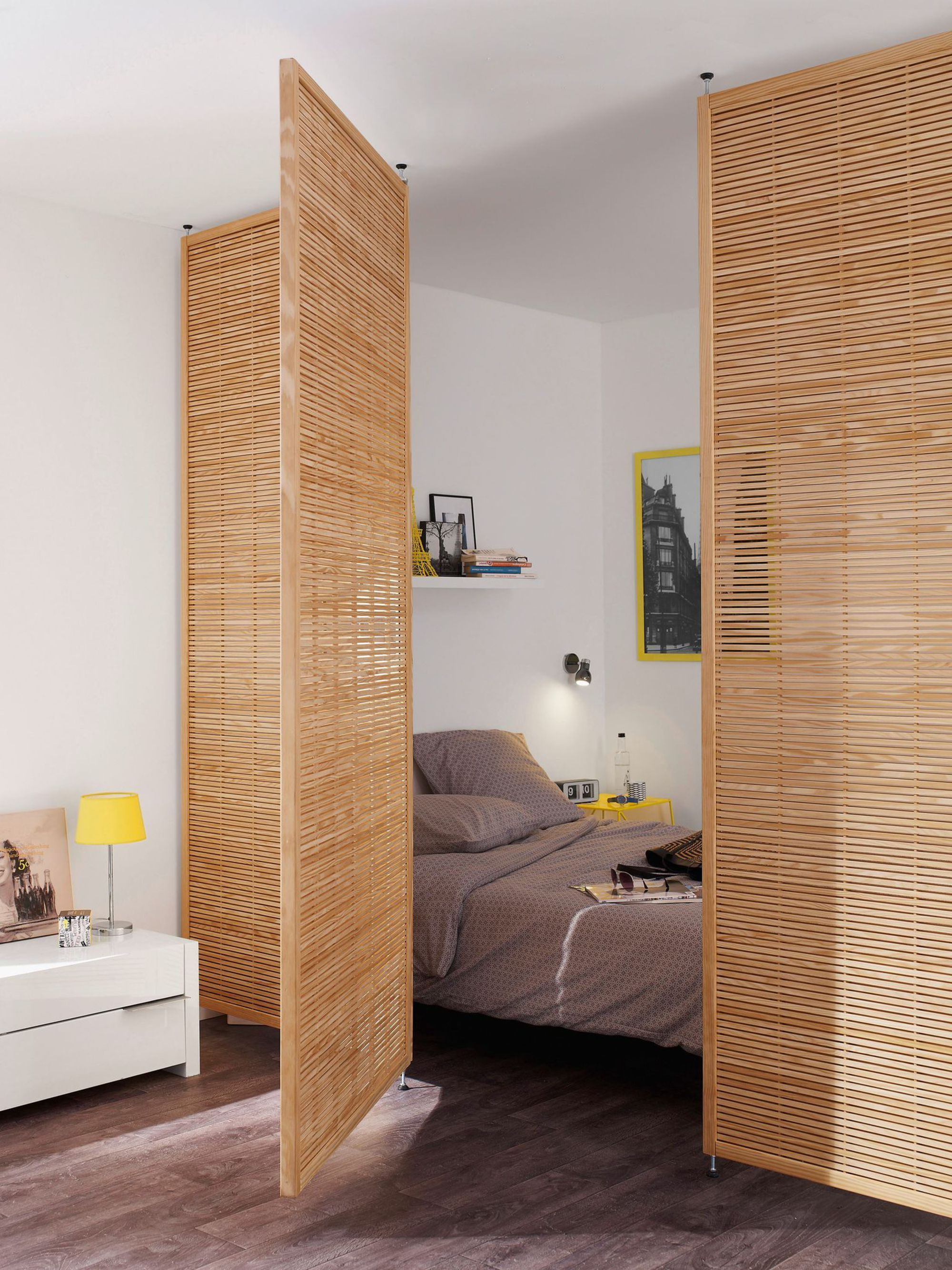 Bamboo room divider studio apartments room divider wall built ins