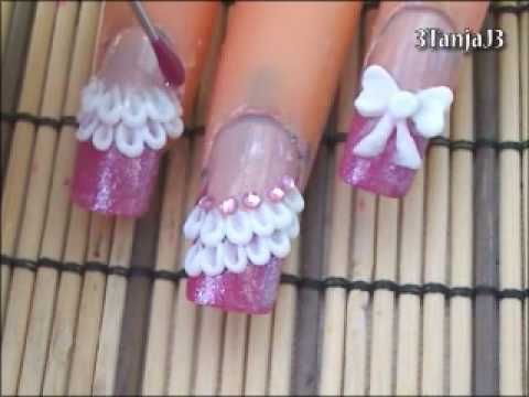 Disney Princess Jasmine 3d Acrylic Nail Art Design Nail Art Designs Diy Nail Art 3d Acrylic Nails