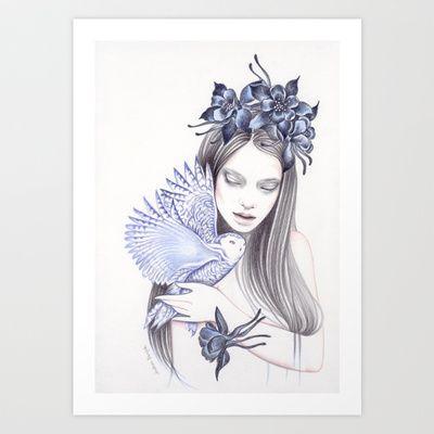 Wildflower Art Print by Andrea Hrnjak - $18.00