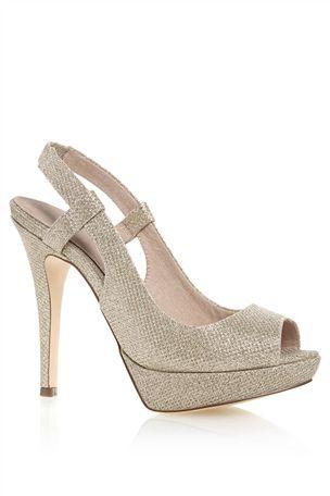 ecc3ba5d3e3a9 Buy Silver Shimmer Platform Slingback Shoes from the Next UK online shop.  Budget Wedding Shoes – Top High Street ...