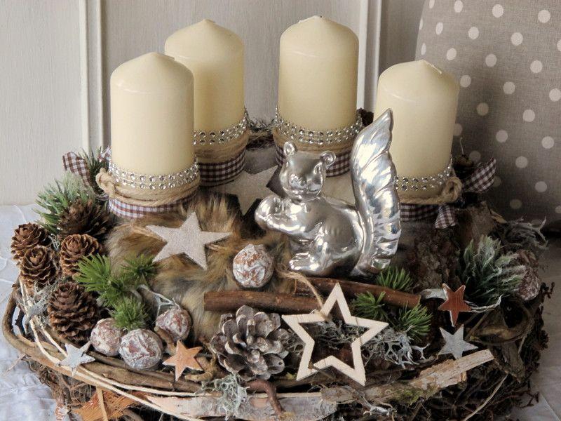 Adventskranz - Adventskranz * Winter im Wald * - ein Designerstück von KRANZundCo bei DaWanda #adventkransen