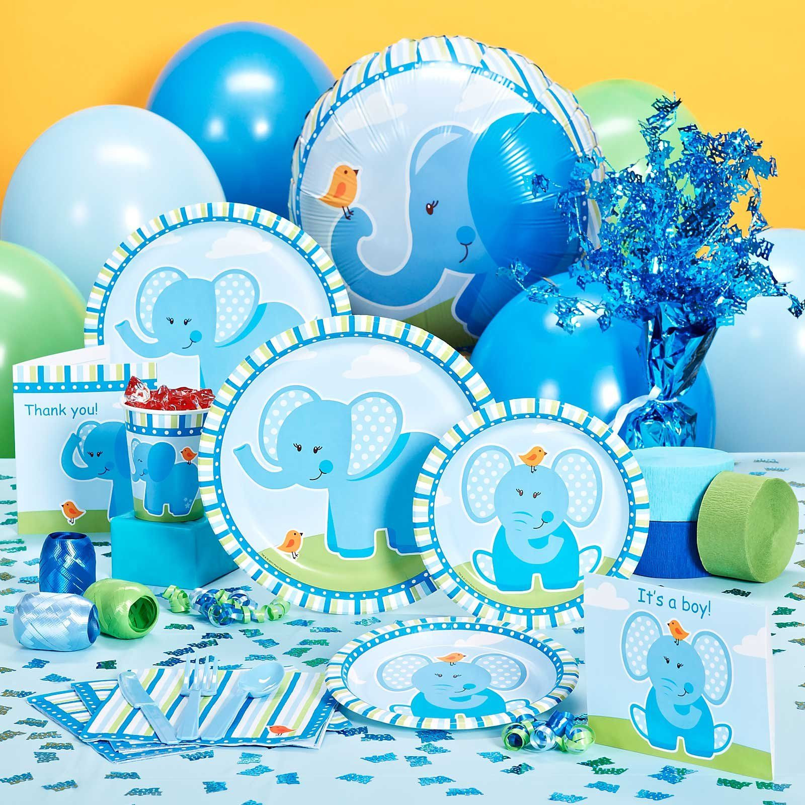 Check Out This Great Photo Of Blue Elephant Baby Shower Decorations And  Other Many Baby Shower Ideas At Just Baked