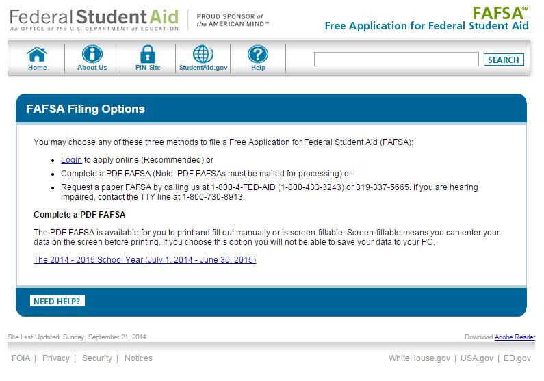 Filling Out the FAFSA® Form Fafsa, Financial aid, Educatio