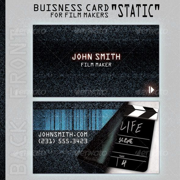 Business card static for people in film business business cards business card static for people in film business colourmoves Gallery
