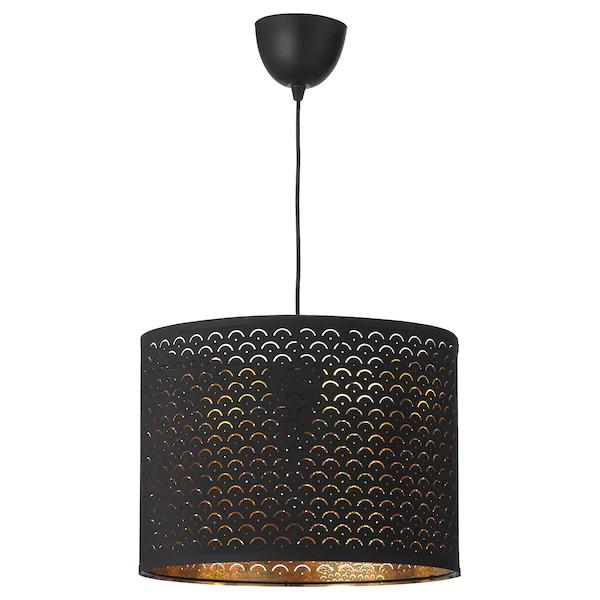 Nymo Sekond Suspension Noir Laiton Noir Ikea 40 Euros Lampe Suspendue Luminaire Ikea Ikea