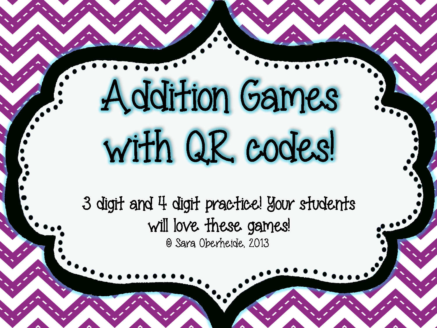 Addition Games With Qr Codes