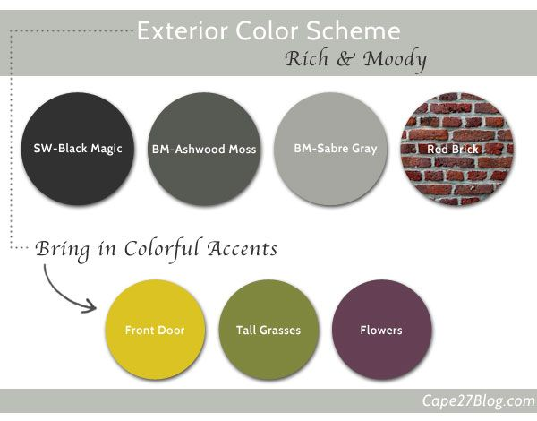 Its Not White Gray Color Exterior Colors And Exterior - Brick home exterior color schemes