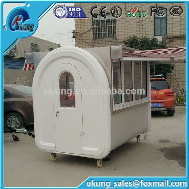 Popular China Mobile Fryed Chicken Food Kiosk With Fridgeice Cream