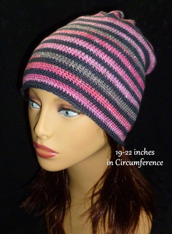Crochet Slouch Hat Slouchy Beanie Stripe Slouchy by berly731