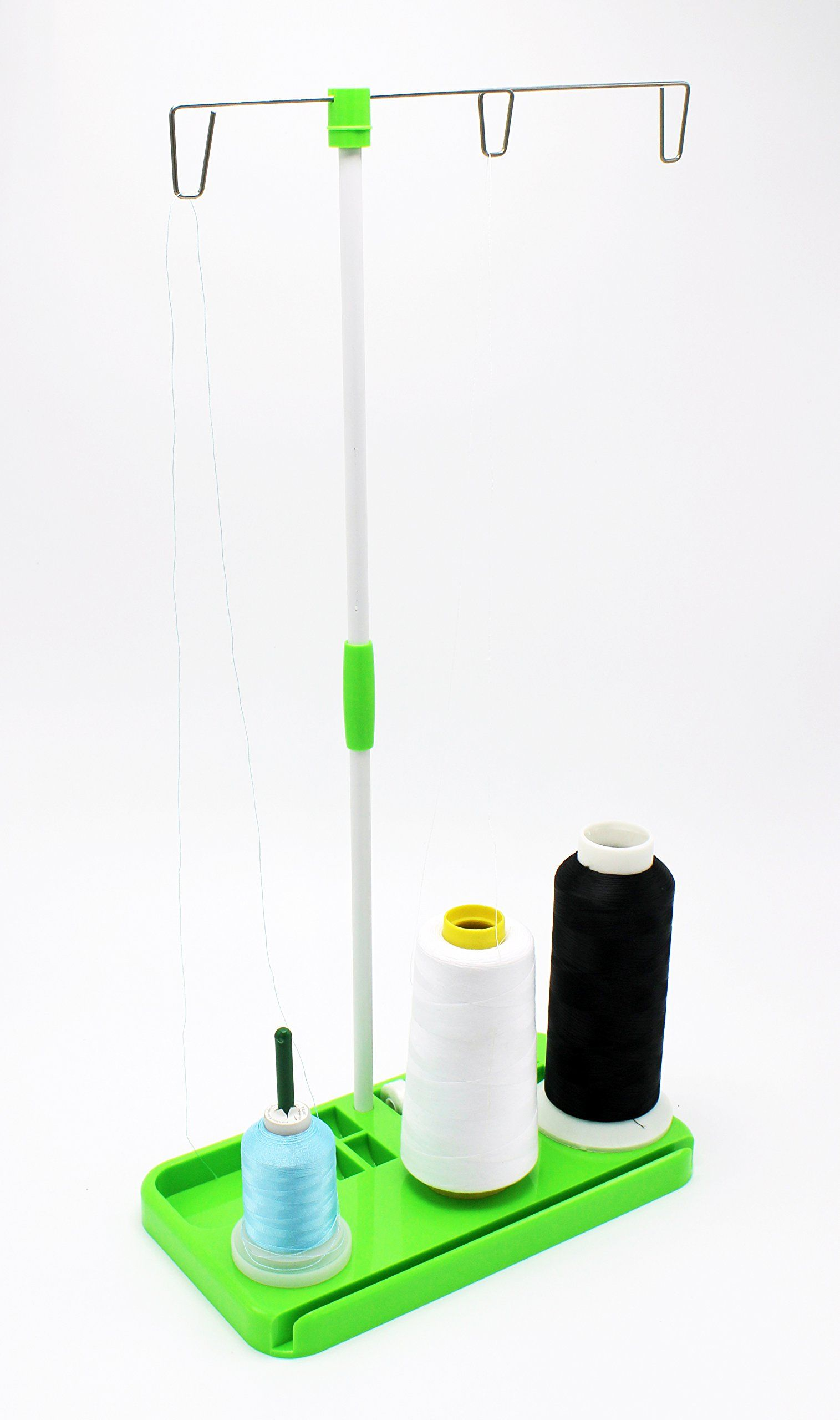 Sewing /& Embroidery Machines-White 3 Spool Thread Stand for Overlock Sergers