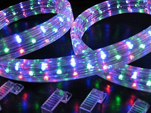 Amazon Com 50 Ft Rgb Color Changing 4 Wire 110v 120v Led Rope Light Christmas Lighting Indoor Led Rope Lights Outdoor Rope Lights Flexible Led Strip Lights