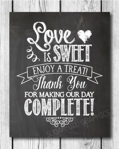 Sweet Chalkboard Wedding Sign