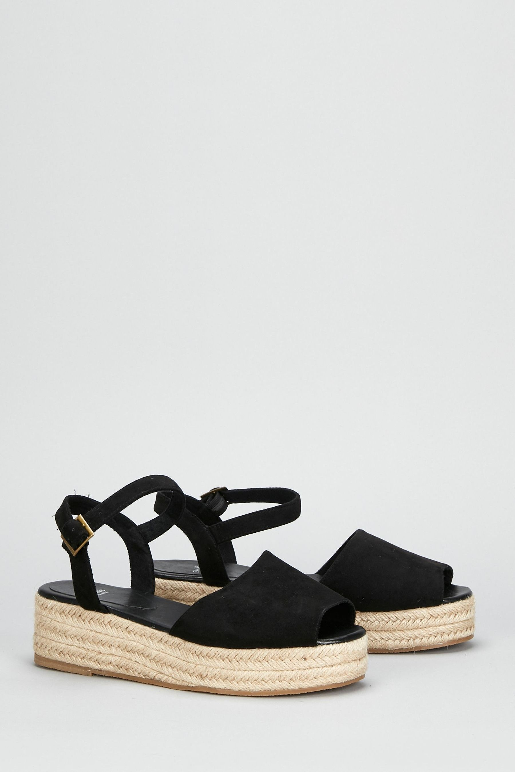 Womens Evans Black Extra Wide Fit