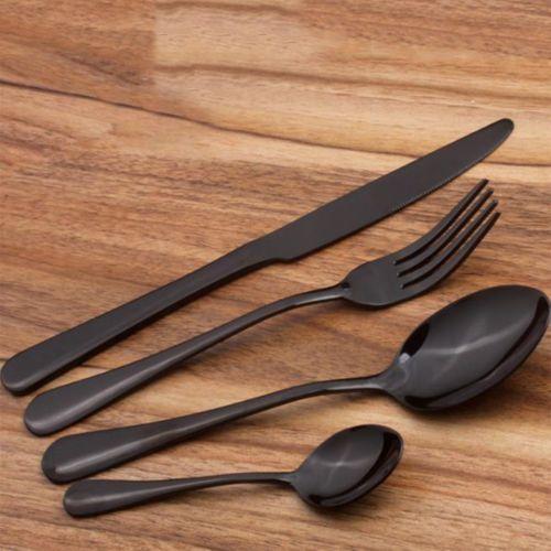 4pcs set buntes edelstahl geschirr cutlery gabel loeffel teeloeffel besteck neu wohnung. Black Bedroom Furniture Sets. Home Design Ideas