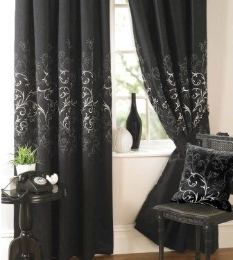 Green Curtains black and green curtains : 17 Best images about Curtain ideas on Pinterest | Eclectic living ...