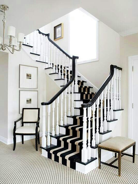 Best Black And White Decor Black And White Stairs White 640 x 480