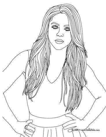 Beautiful Shakira coloring page. More Shakira coloring pages on ...