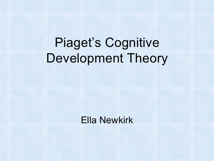 Slideshare of Piaget's Cognitive Development Theory. It gives a background to who he is, and identifies and describes all the major elements of his theory.