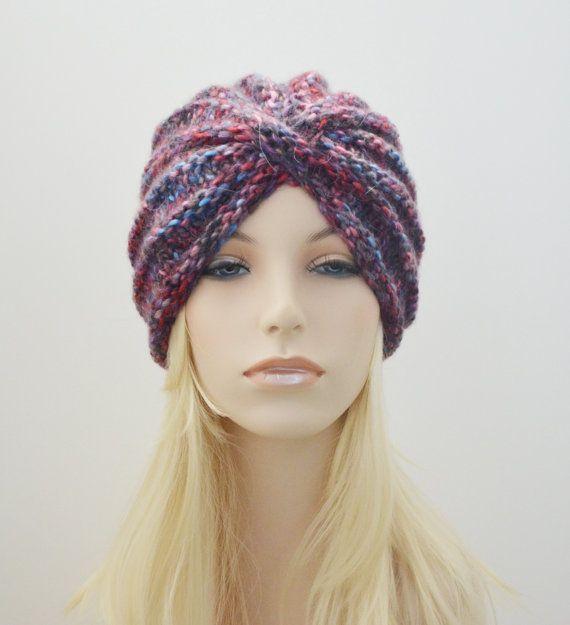 Turbante de lana sombrero lana grueso turbante por MaraArber ...