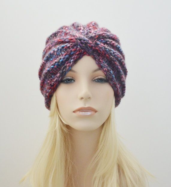 Turbante de lana sombrero lana grueso turbante por MaraArber | Alma ...