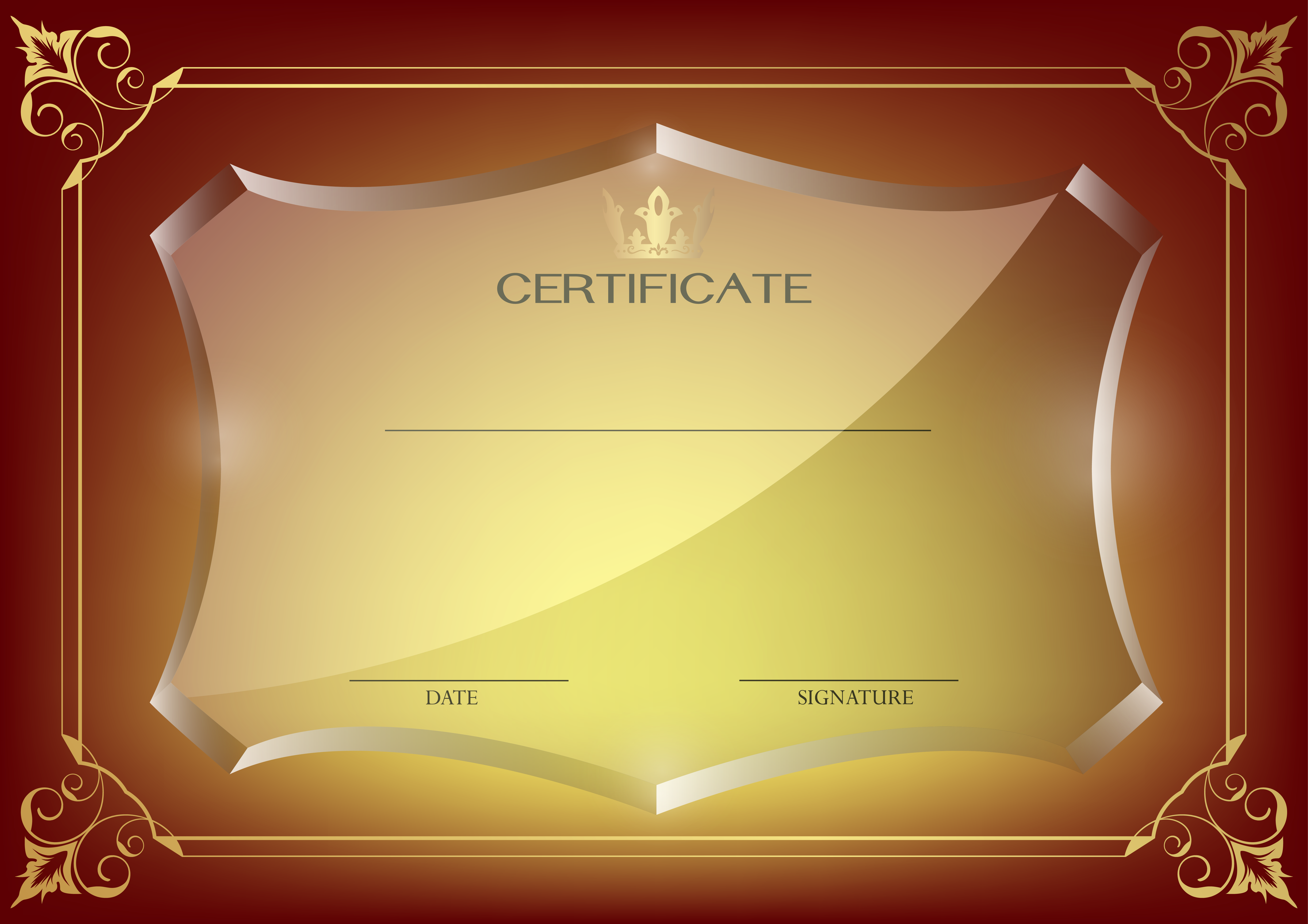 Red certificate template png image certificado pinterest red certificate template png image yadclub Image collections
