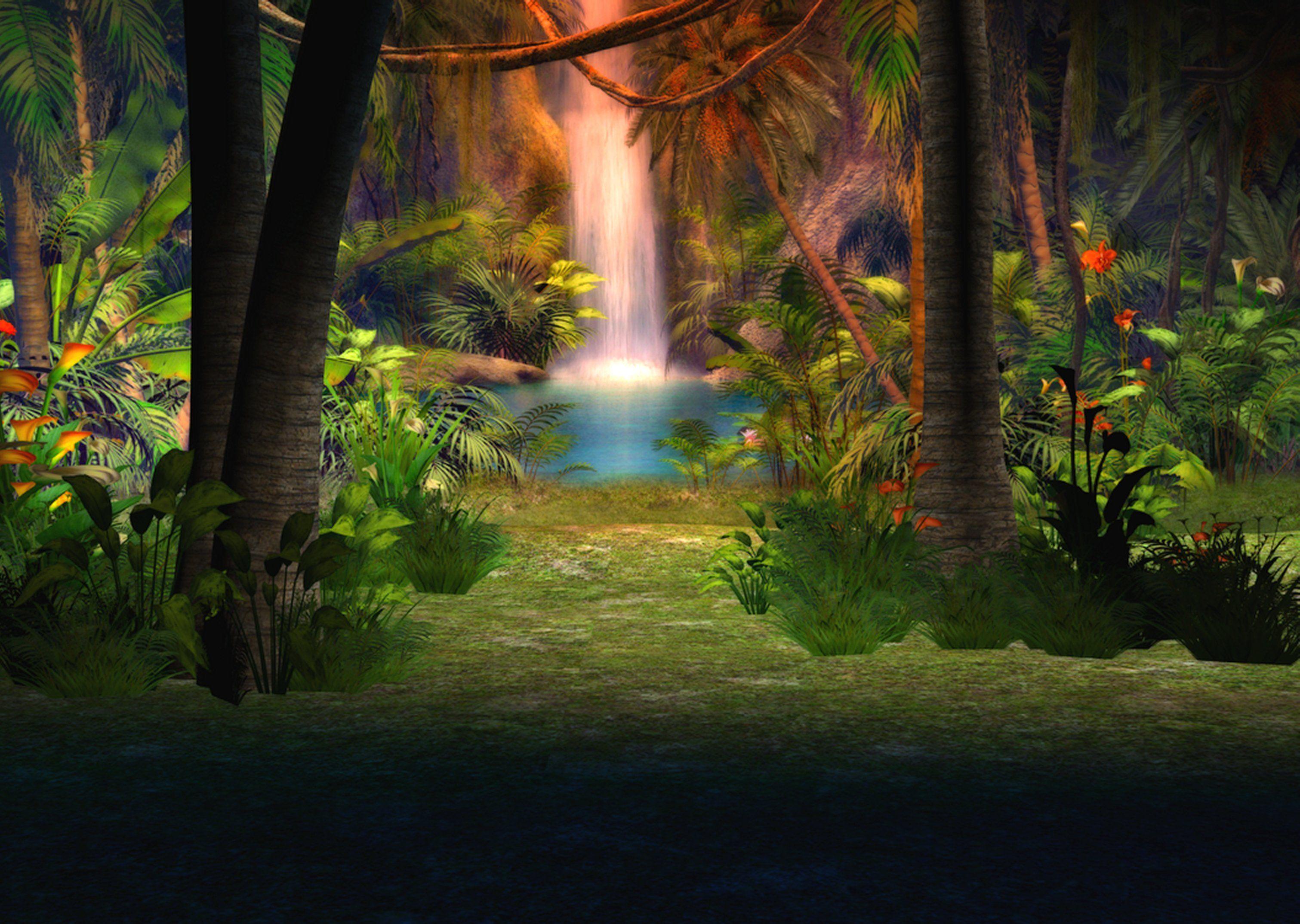 Jungle Waterfall Wallpaper Hd: Jungle Background By ~Lil-Mz On DeviantART