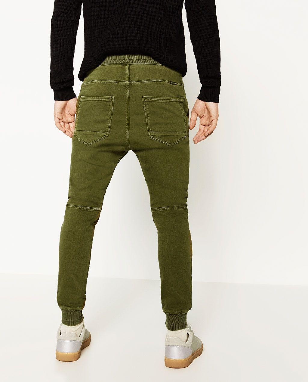 Zdjęcie 4 Materiału Spodnie Joggersy Zara Jogging Z Miękkiego Zara Jeans Trousers OOwrqdS