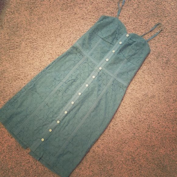 """BCBGeneration Lace Dress BCBGeneration knee length dress with beautiful lace overlay in EXCELLENT condition!! Size 00/0. Waist 12.5"""", length from armpit to bottom is 28"""". BCBGeneration Dresses"""