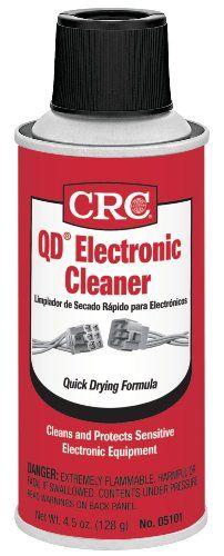 Black Friday Crc 05101 Qd Electronic Cleaner 4 5 Wt Oz From Crc Electronics Cleaners Electronics Cleaners