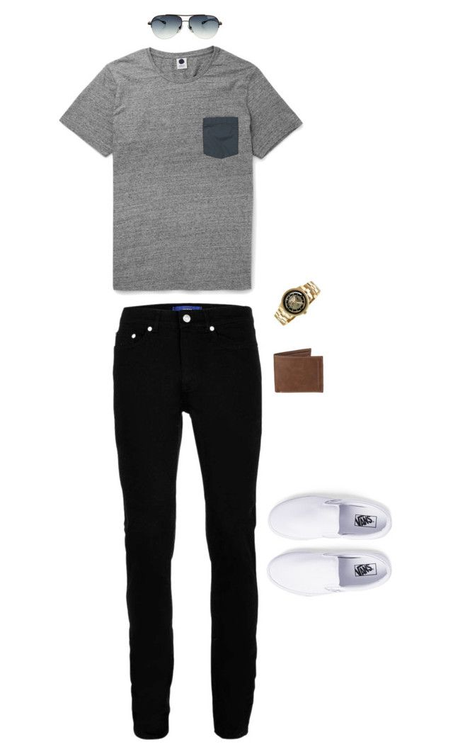 """""""Untitled #1811"""" by jamiebradbury14 on Polyvore featuring Topman, Vans, Kenneth Cole, Levi's, Chrome Hearts, men's fashion and menswear"""