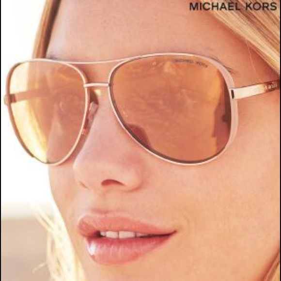 MICHAEL KORS MK5004 CHELSEL (Rose gold) Chelsea aviator sunglasses  represent the coolest of cool 1fbb3b1b6ec5