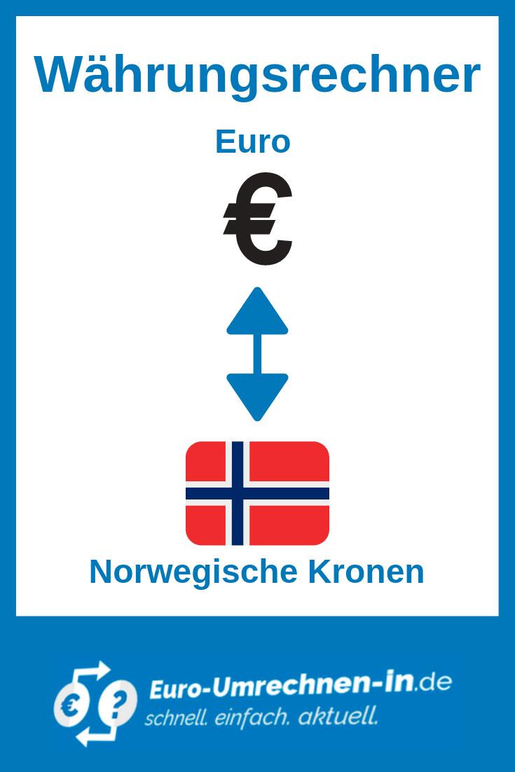 Wahrungsrechner Euro Eur In Norwegische Kronen Nok Norwegisch Umrechnen Euro