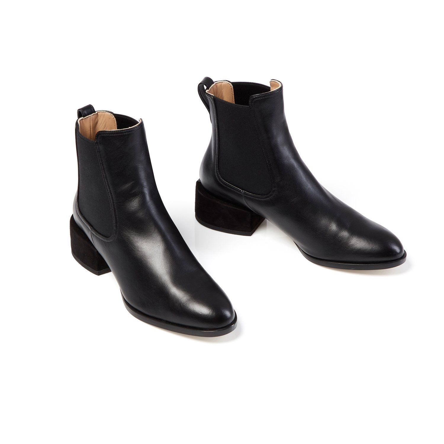 ef99dbe7e88 Designer luxury Italian made timeless classic chelsea black ankle booties,  GEM boots, Dear Frances