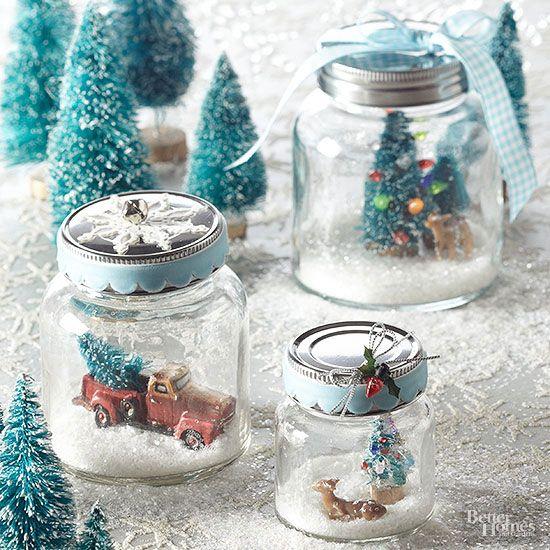 Diy Mason Jar Snowglobe Mason Jar Christmas Gifts Mason Jar Christmas Crafts Christmas Mason Jars