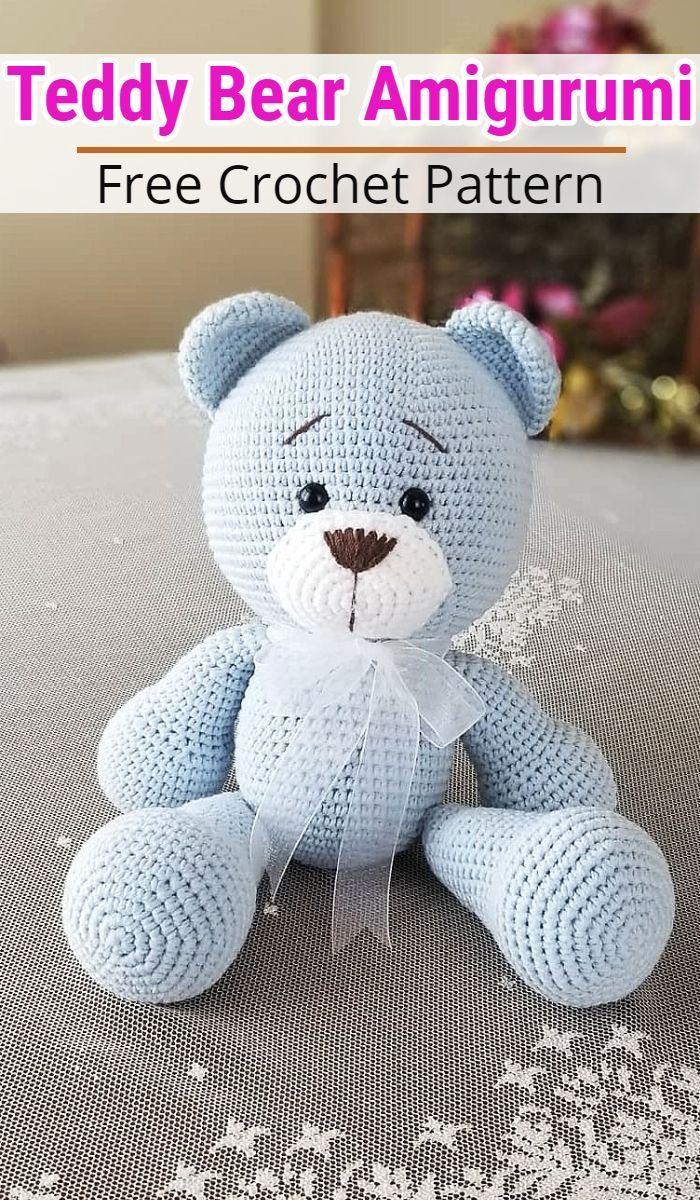 Free Crochet Bear Patterns – Amigurumi Patterns #crochetbearpatterns Amigurumi Bear Crochet Pattern Ideas #crpchetpatterns #freecrochetpatterns #crochetteddybears #crochetbearpatterns #crochetstuffedtoys #crochetbear