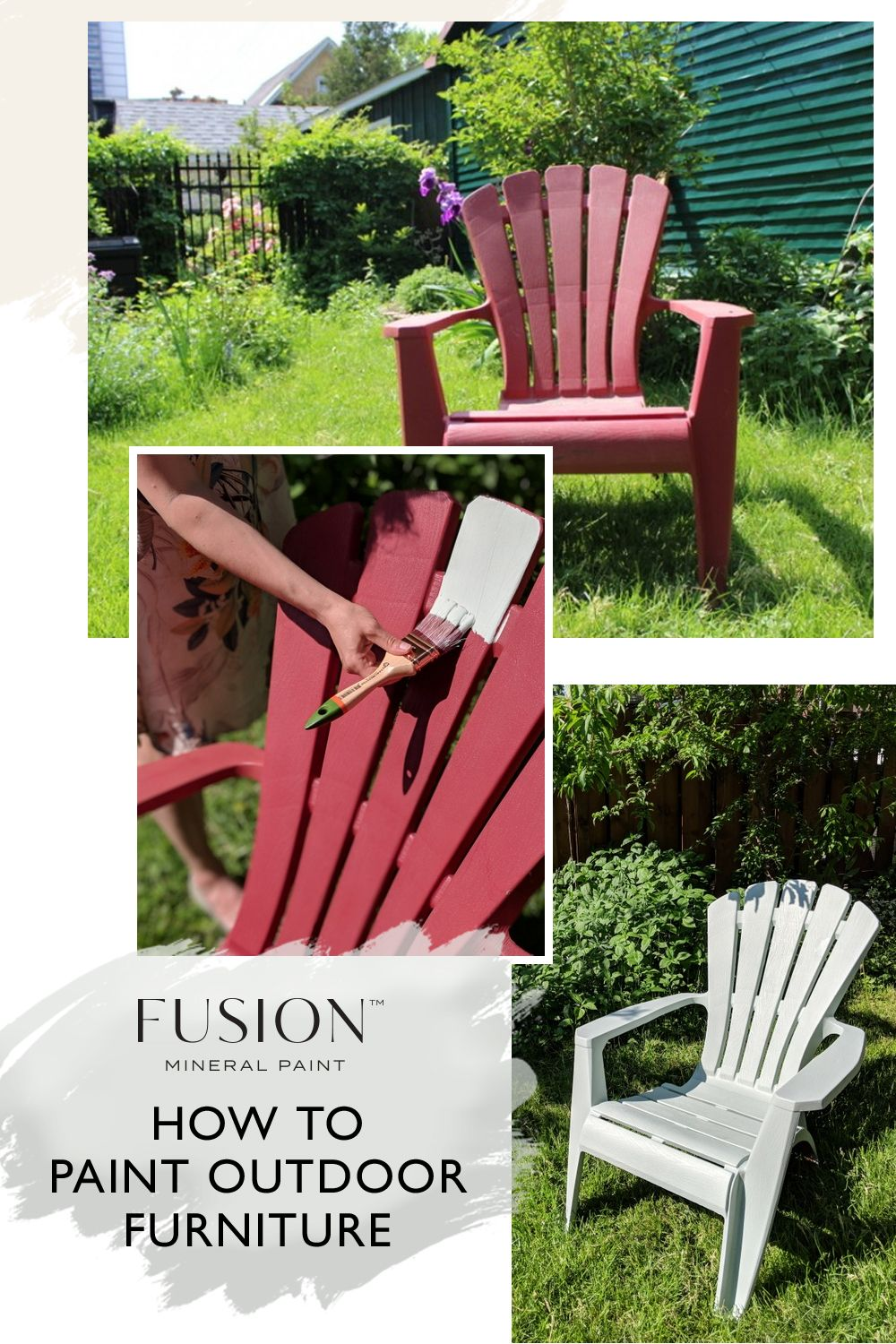 How To Paint Outdoor Furniture Fusion Mineral Paint Painted