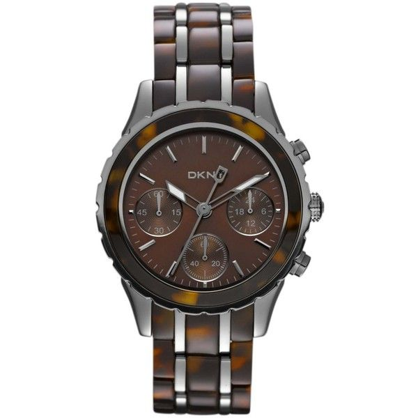 DKNY Women's Two-tone Resin Dial Quartz Watch $156