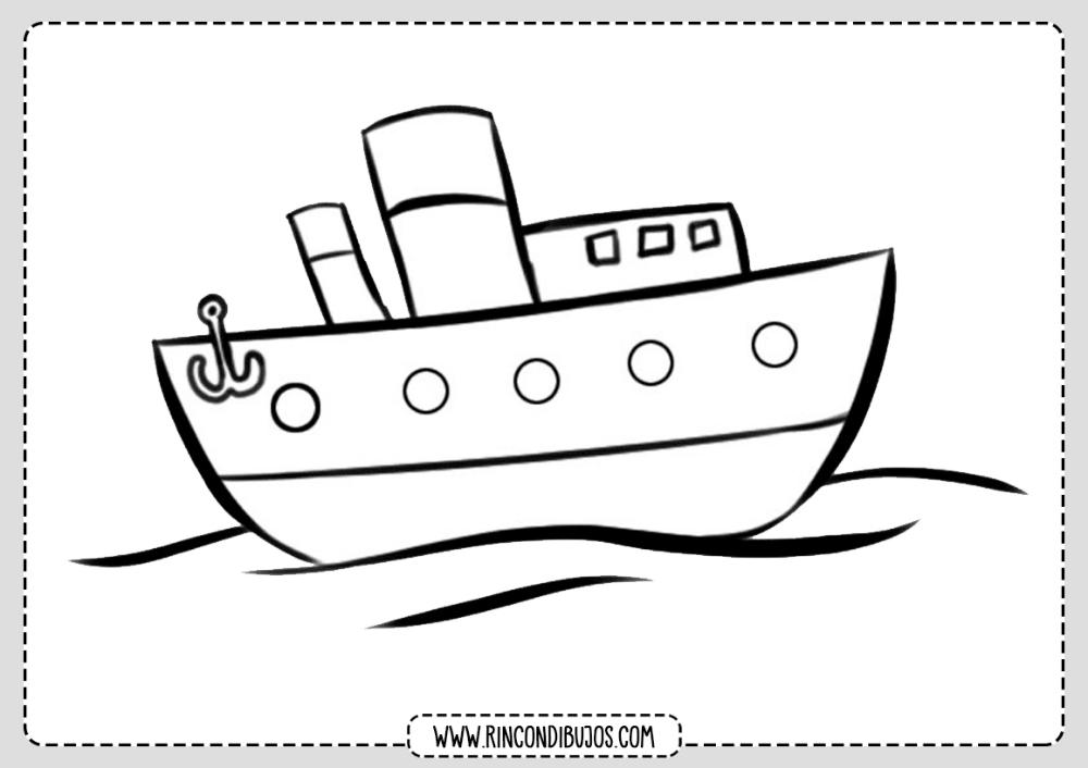 Dibujo De Un Barco Para Colorear Rincon Dibujos Barcos Para Colorear Dibujo De Barco Medios De Transporte Dibujos