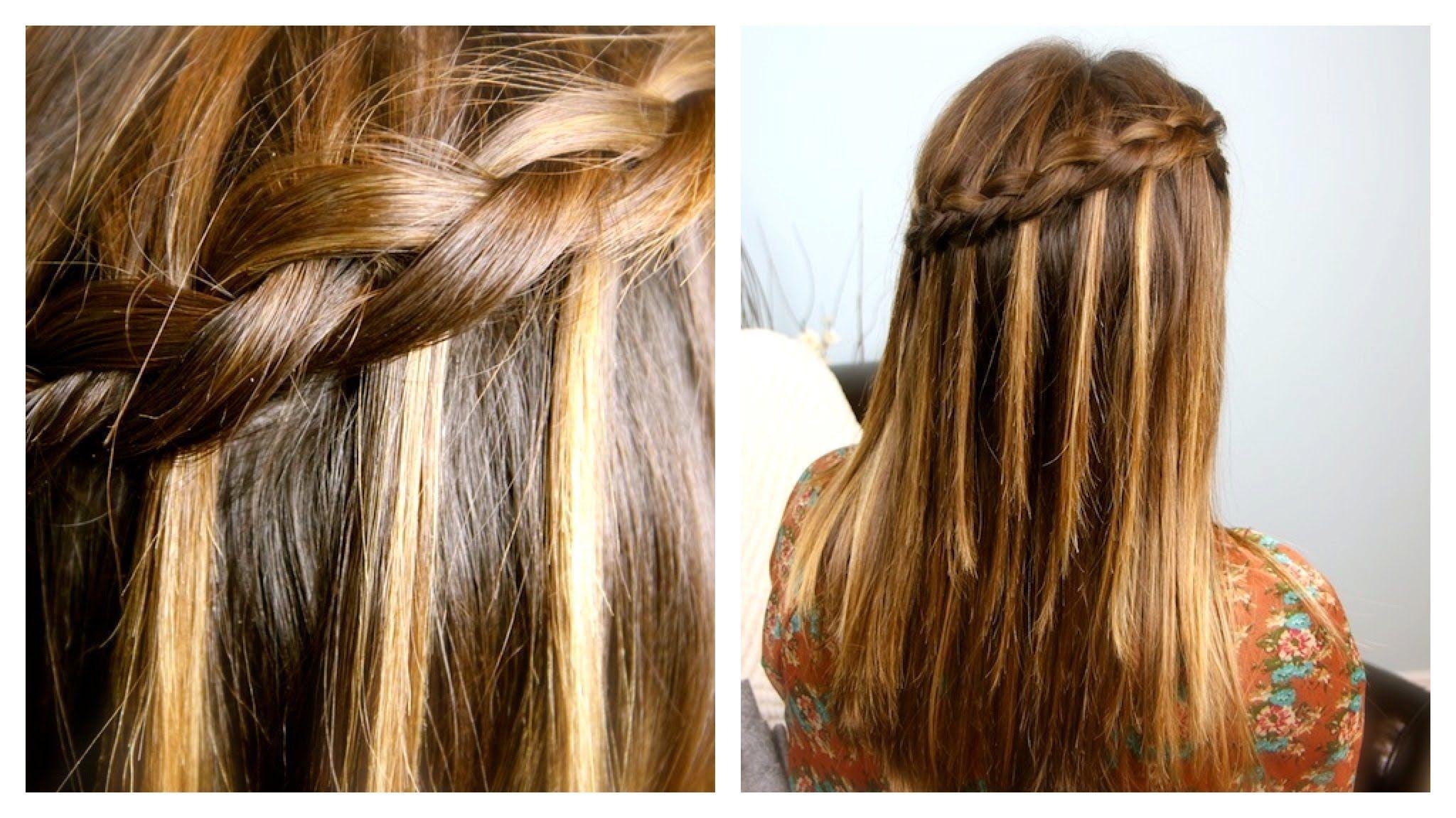 Diy dutch waterfall braid cute girls hairstyles shows how to do