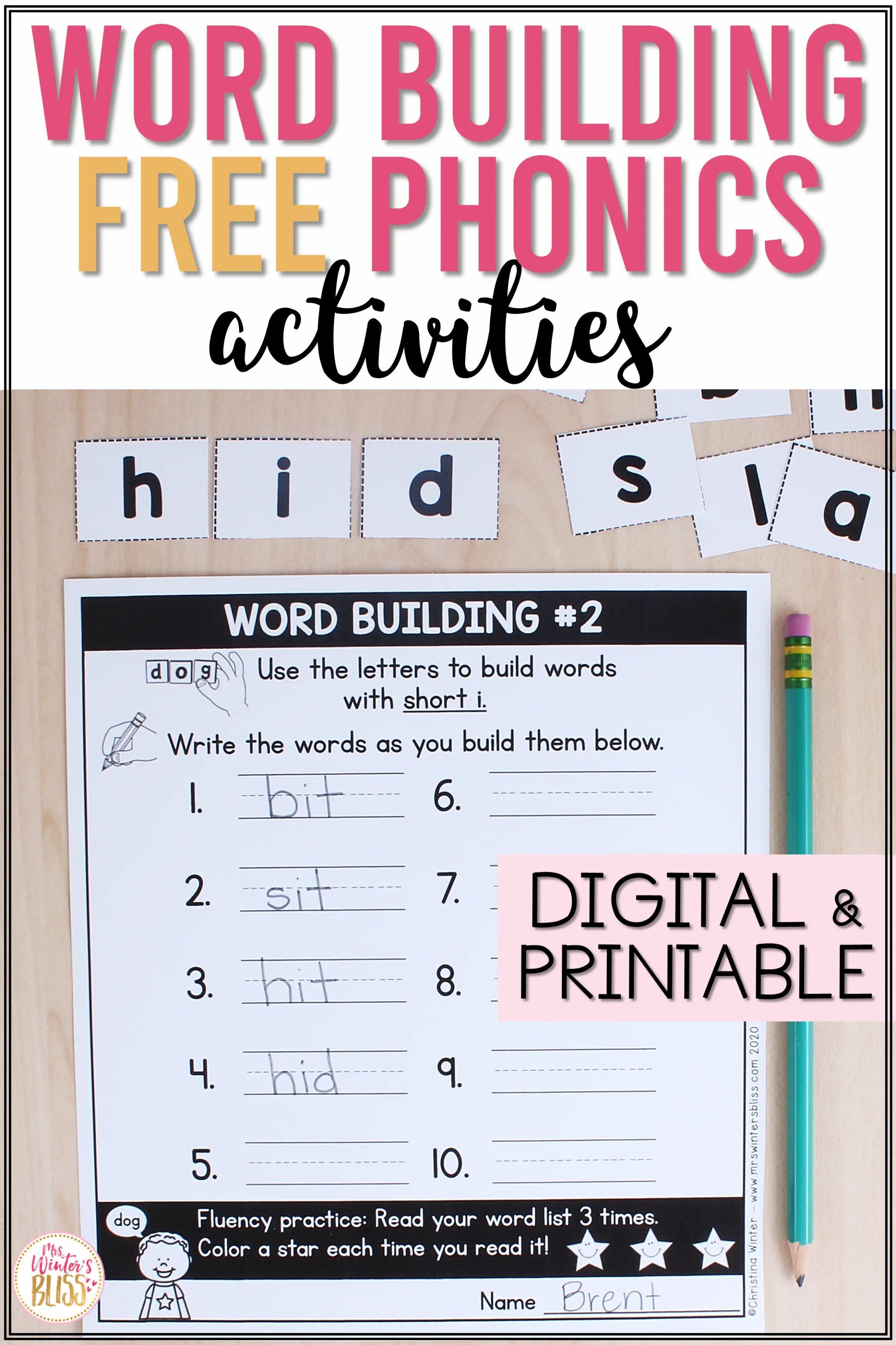 Free Download Phonics Activities Phonics Word Building Activities [ 3487 x 2325 Pixel ]