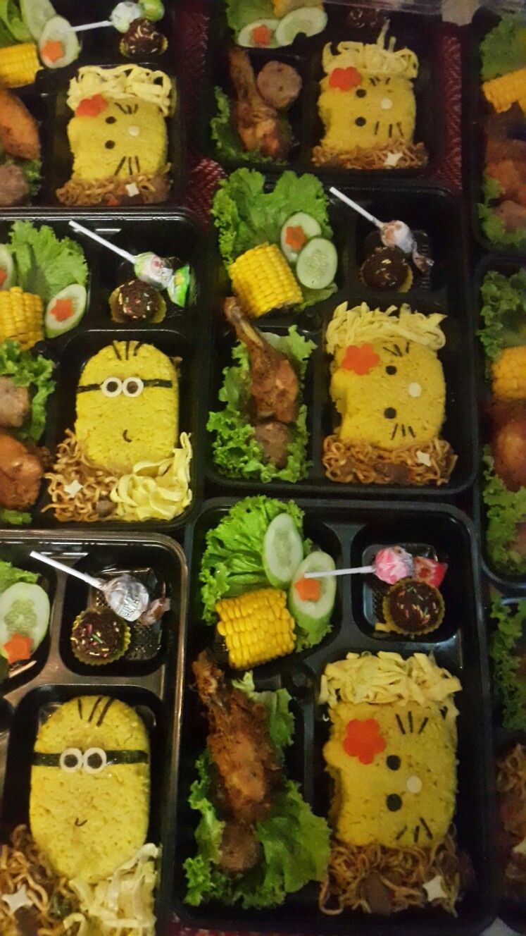 Bento Ultah Anak : bento, ultah, Bento, Kuning, Ultah, Makanan,, Kotak