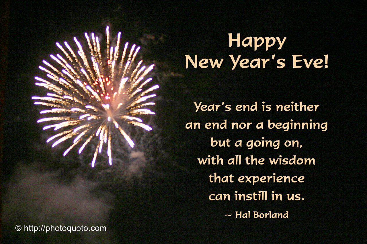 new year new day quotes New Year's Eve Photo Quoto