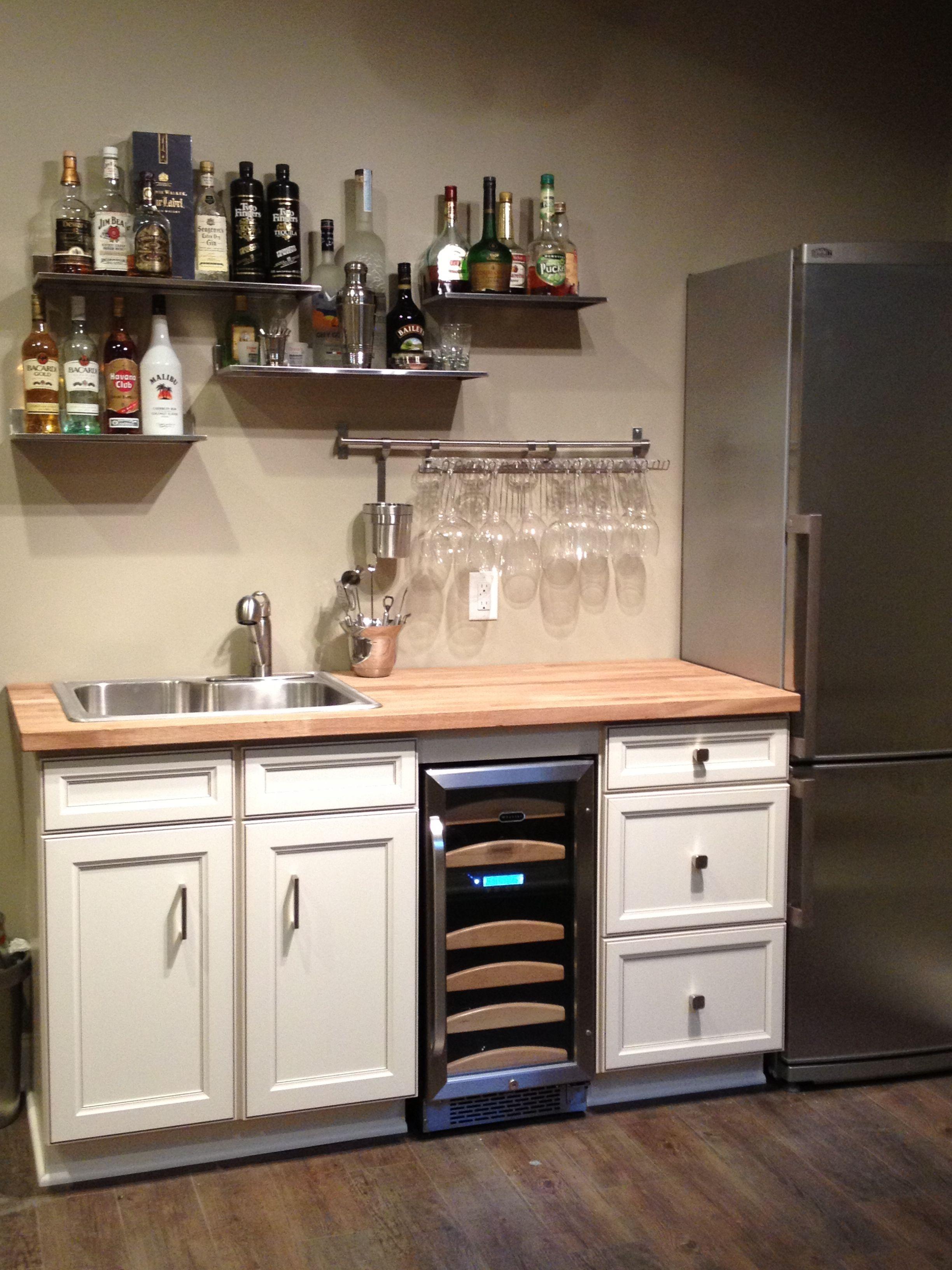 Basement Bar Metal Shelves Basement Dry Bar Ideas Small