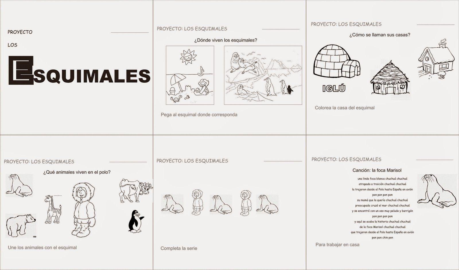 Actividades para guardería: Proyecto para infantil: los esquimales ...