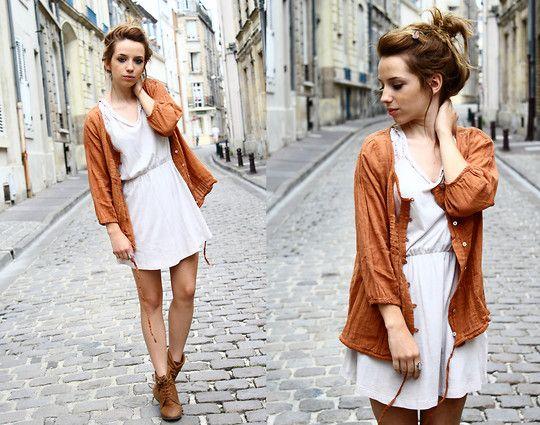 Zara Vintage Dress, Zara Jacket, Zara Boots