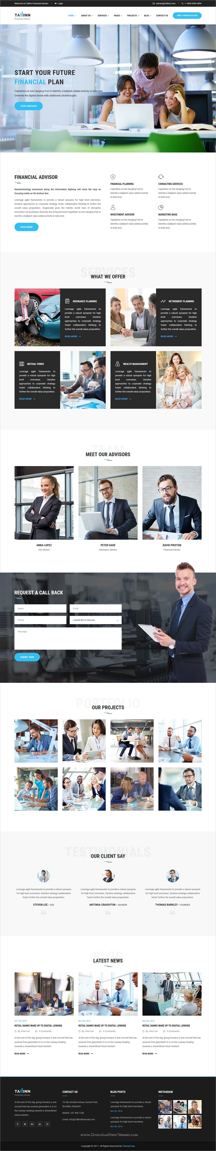 Business Finance and Consultancy HTML Template - Tallinn | Html ...