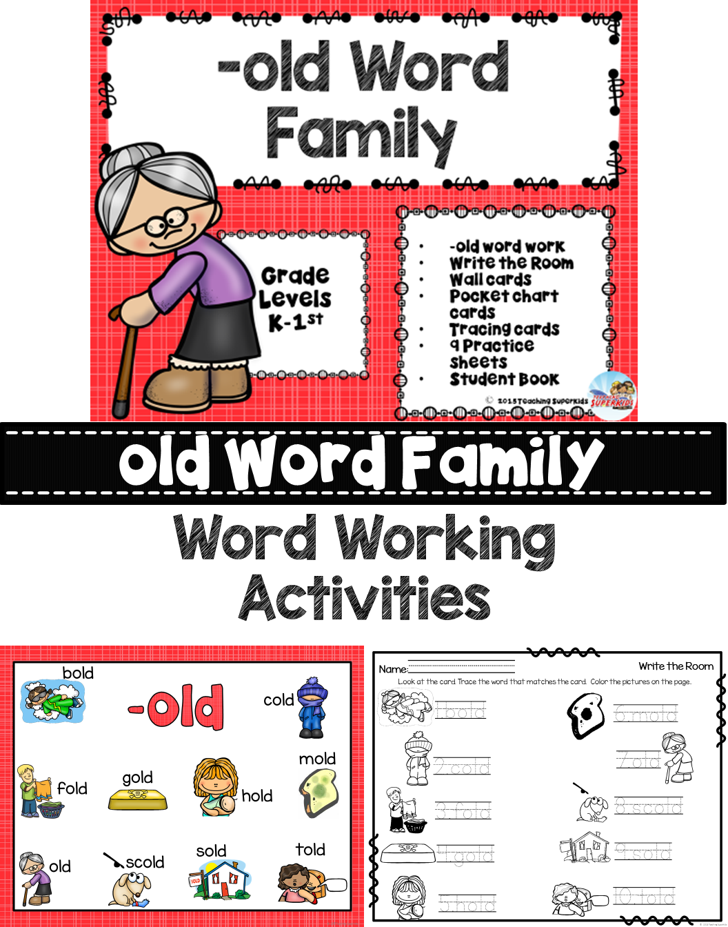 old Word Family | Teacher created resources, Activities and Language