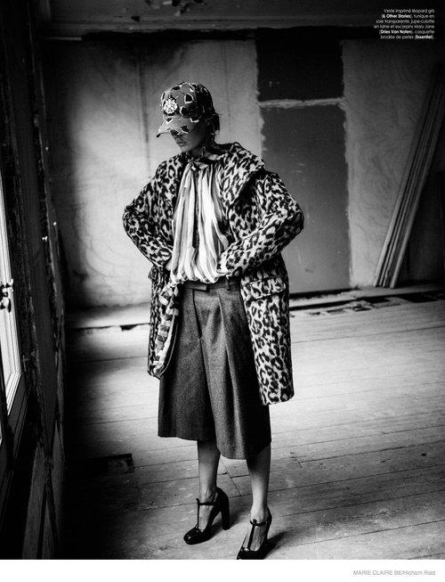 Marlijn Hoek Poses For Marie Claire Belgium October 2014 - OOTD Magazine fashion