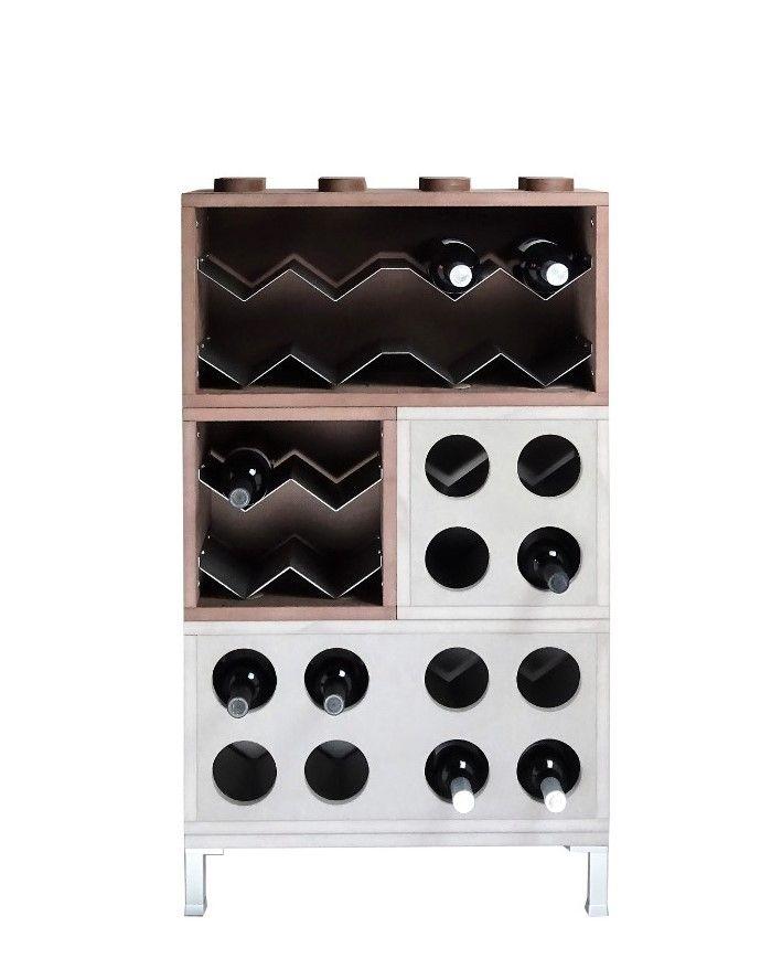 Mobile portabottiglie vino, scaffale per vino, componibile di design ...